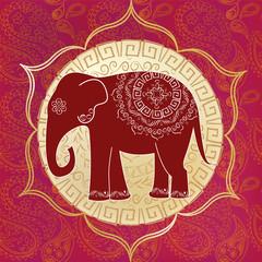 Indian elephant with mandalas