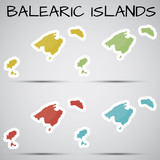 stickers in form of Balearic Islands, Spain