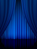 blue theatre curtain vertical