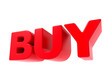 Buy - Red 3D Text.