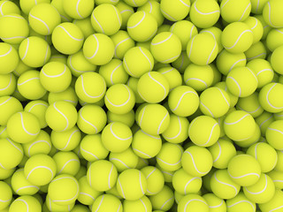 Heap of tennis balls