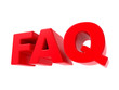 FAQ - Red 3D Text.