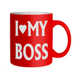 Love my Boss mug isolated - office humour poster