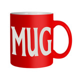 Red mug isolated - office humour, humor poster