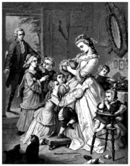 Family Scene - begining 19th century