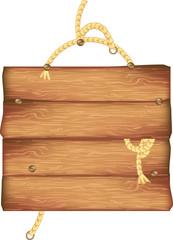 Insegna in legno