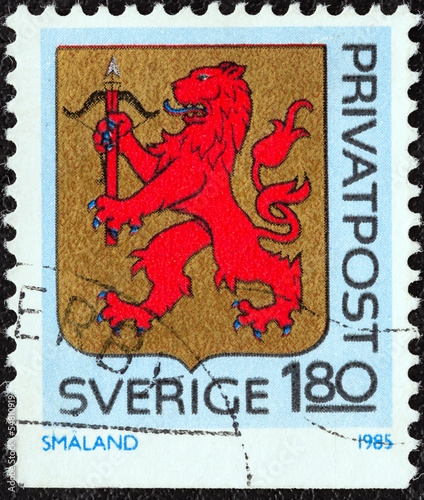 Smaland province coat of arms (Sweden 1985)