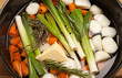 glazed vegetables leek carrot cooking