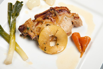 pork chop dish vegetables