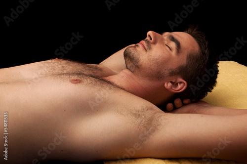 Young man relaxing