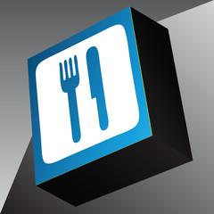 Information cube restaurant
