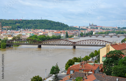Railway bridge over the Vltava River