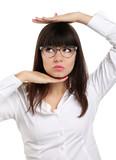 nice girl with eyeglasses