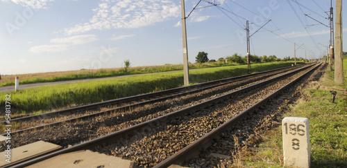 Zdjęcia na płótnie, fototapety, obrazy : Panorama trakcji kolejowej