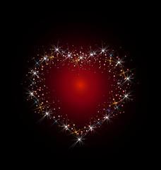 Constellation of love illustration vector
