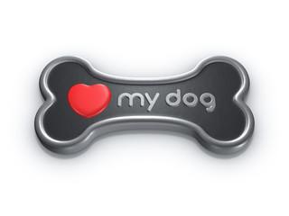 love my dog bone heart