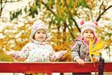 children in fall park