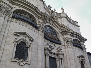 Italy, Sicily, Catania, Duomo Square, the Cathedral's side