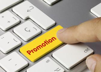 Promotion keyboard key finger