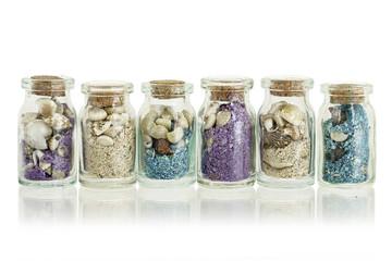 sand in bottles
