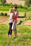Young love couple in the nature