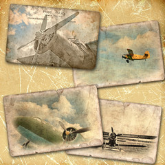 Retro aviation collage