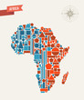 Africa geometric figures map