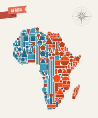 Africa geometric figures map