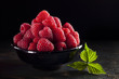 Bowl of raspberry