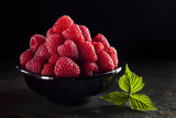 Bowl of raspberry