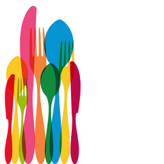 Cutlery pattern illustration