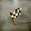 Checkered flag old style