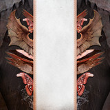 Vintage background with dragon wings