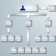Firmen Organigramm ,modern