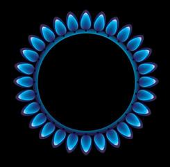 Fiamma del gas fuoco cottura fornelli