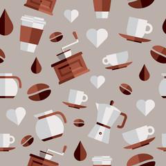 Coffee flat icons illustration