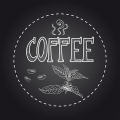 Coffee chalkboard illustration