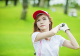 lady playing golf