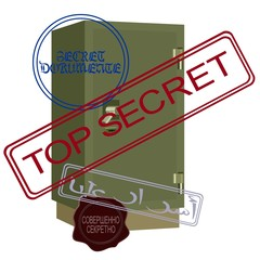 Safe with secret documents