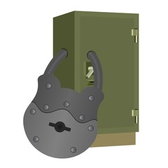 The lock on the safe