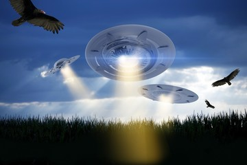 UFO Attack Illustration