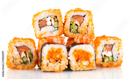 delicious sushi isolated on white - 54826997