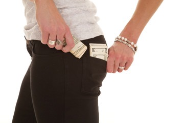 Getting money from back pocket