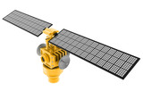 3d illustration of broadcasting satellite