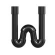 Black Plastic Alphabet W