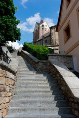 Loket, stairs to castle