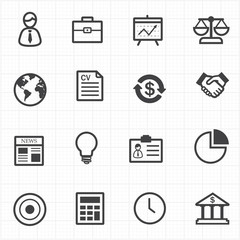 Business finance icons set