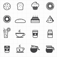 Bakery and drink icons