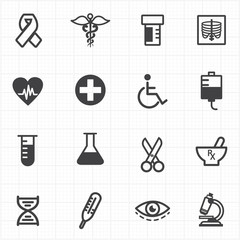 Medicine healthcare icons