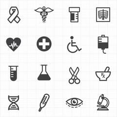 Medicine healthcare icons